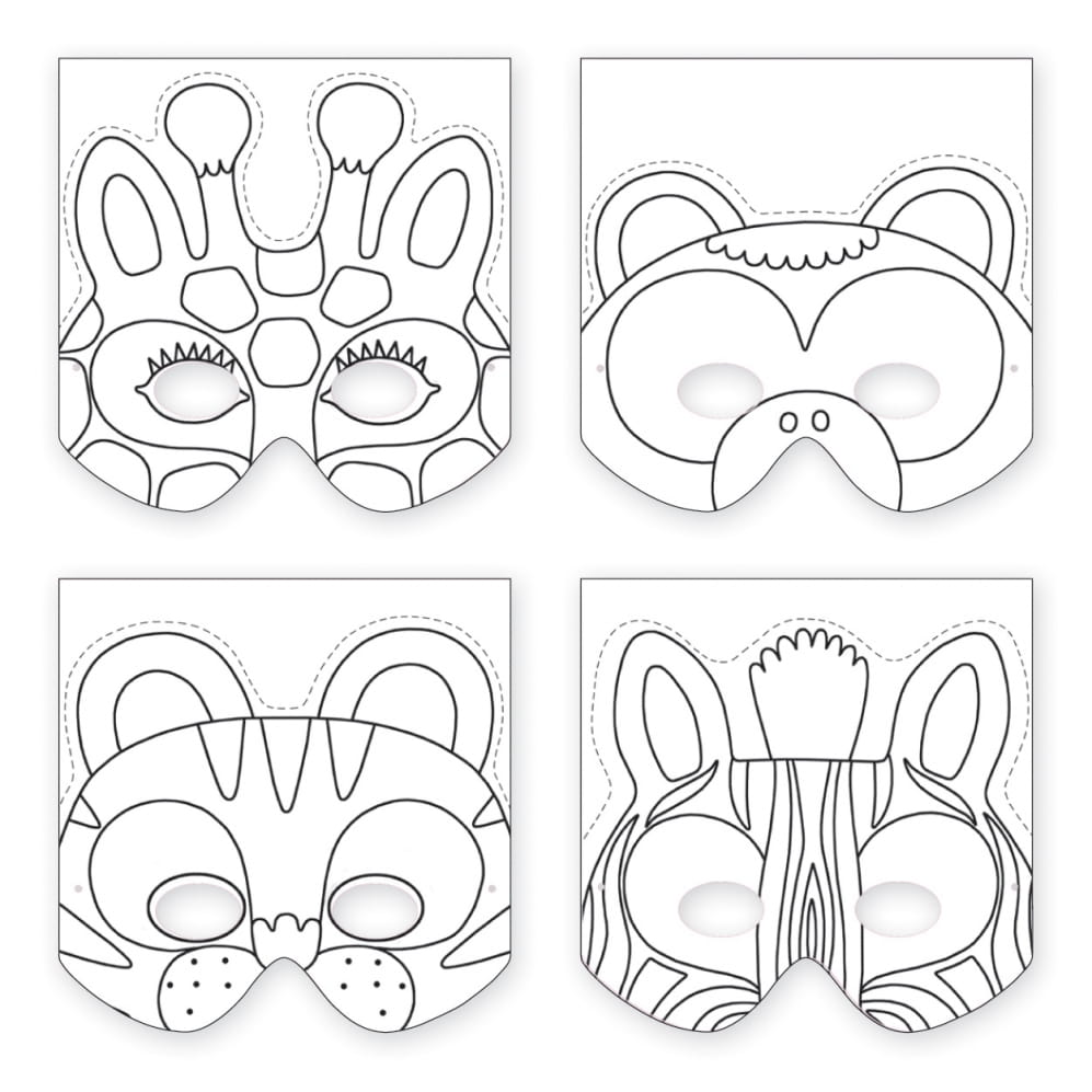 Robimy maski zwierz ta w d ungli mercimama for Sloth mask template